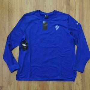 LA Rams Crewneck Sweatshirt Blue Nike NFL On Field